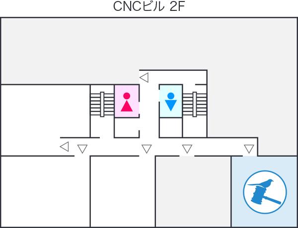 建物内の事務所マップ