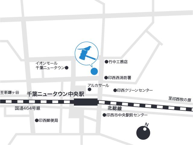 北総こばやし法律事務所の地図